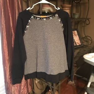 Sweatshirt with bead detail